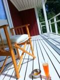 #White verandah and #red house , #Sweden