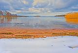 Last snow on beach near Stockholm 2016