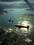 Approach with P47 and F4 U Corsair. P. Shop.jpg