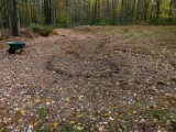 Trench dug around deep area