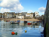 The beach with boats, St. Ives, Cornwall