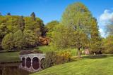 Turf bridge and tree, Stourhead
