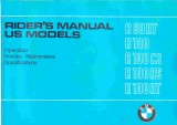 BMW Motorcycle R80RT, R100, R100CS, R100RS, R100RT Owner's Manual