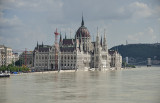 Flooded Parliament from Margit Bridge
