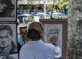 La Rambla, portrait artist