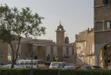 Old city, minaret and traffic