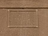 Qasr al-Bint tombs, burial tablet