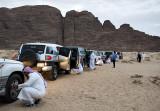 Desert caravan, preparing for sand