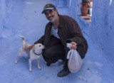 Chefchaouen, a man and his friend