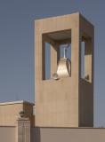 Unusual minaret, residential area
