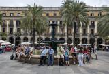 Enjoying the plaza