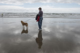 Contemplating the water, Cannon Beach