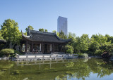 Lan Su Chinese Garden, traditional and modern