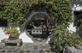 Lan Su Chinese Garden, through a flower