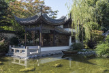 Lan Su Chinese Garden, pavilion with a boat