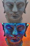Head of Buddha-Before and After Topaz
