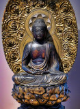 Amida Buddha lacquered wood Japan 1700s