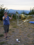 bubbles on the mountain