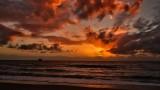 sky show at sunrise