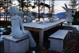 Concrete sculptures........