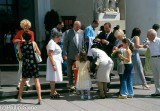 Christening party outside the Cathedral, Vilnius