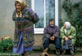 Babushkas in the Old Believer community just inside Estonia