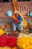 Selling marigold garlands, Jaipur