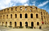 Roman Colosseum, built AD 230 - 238, dwarfs the modern town of El Jem
