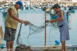 Tidying the nets, Marsaxlokk