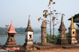 Temple overlooking the Mekong