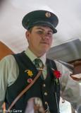A uniformed conductor