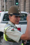 Carabinera (policewoman) directing traffic, Chile
