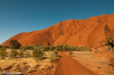 Cycling and walking path around Uluru, late afternoon