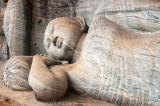 Sleeping Buddha carved from solid granite, Polonnaruwa