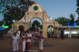 Pilgrims gather inside the Sacred Precinct at Kataragama