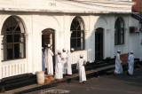 Young Muslims outside a prayer hall, Galle Fort...