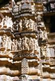 Hindu temple sculptures of Khajuraho, Madhya Pradesh, India