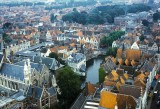 Looking down from the Belfort, Bruges, during my 1974 visit