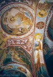 Early Christian frescoes in a cave church, Cappadocia