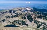 Alpine tarn below the summit of Mt Vihren