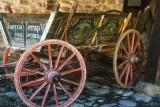 Traditional farm wagon at a folk museum
