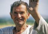 Bulgarian peasant farmer at the roadside