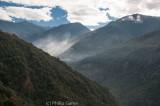 Morning fog rises from the Tawang Chu Valley