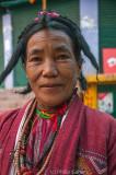 Monpa woman of Tawang, NE India, dressed in her best