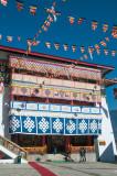 Entrance to the Dukhang or prayer hall of Tawang Gompa