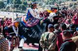 Ceremonial 'yak' dance for the visiting Karmapa Lama