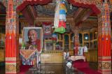 Inside Gyangong Ani Gompa (Buddhist nunnery)