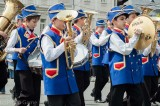 Children's brass band performs on City Day in Yaroslavl