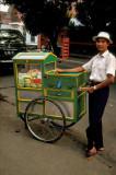 Kaki Lima ('five feet') food vendor