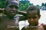 Two village boys, West Papua